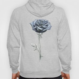 Rose 03b Botanical Flower * Blue Black Rose Hoody