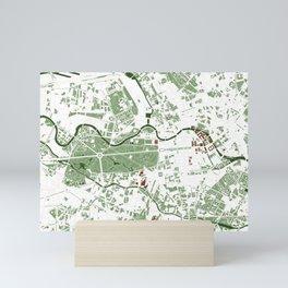 Berlin city map minimal Mini Art Print