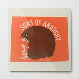 Sons of Anarchy Skull Helmet Metal Print