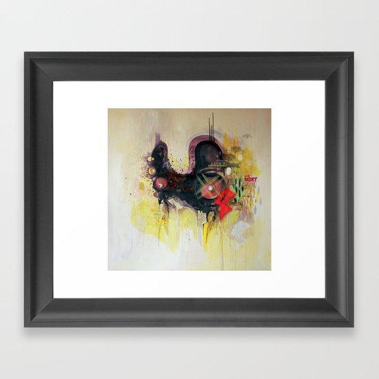 methy megadrive badgirl Framed Art Print