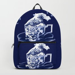 TEMPEST IN A TEACUP, HOKUSAI STYLE Backpack