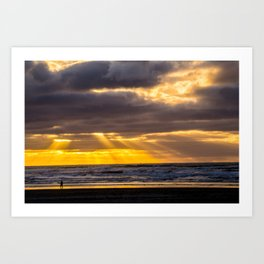 End of the Day Walk Art Print