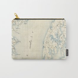 Vintage Annapolis MD & Chesapeake Bay Map (1902) Carry-All Pouch