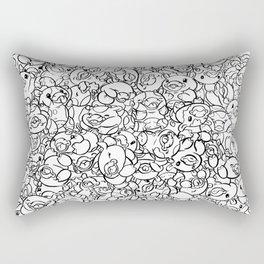 65 Cows Tiled Rectangular Pillow