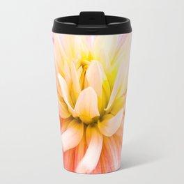 A summer Dahlia flower on wood texture Travel Mug