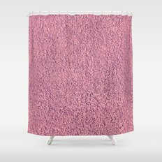 Motel Pink Shag Pile Carpet Shower Curtain