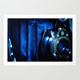Capturing Yesteryear a vintage Kodak folding camera photograph Art Print