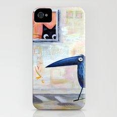 Cat and Bird Slim Case iPhone (4, 4s)