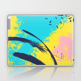 Yellow contrast splash Laptop & iPad Skin