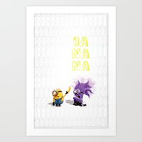 banana Art Prints featuring Banana by Ylenia Pizzetti
