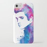 elvis presley iPhone & iPod Cases featuring Elvis Presley by WatercolorGirlArt