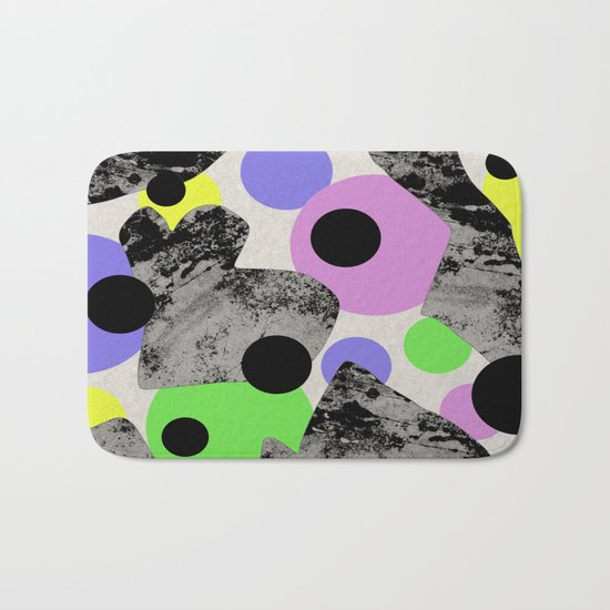 Pastels and Textures Bath Mat