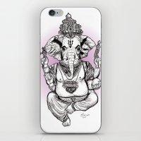 ganesha iPhone & iPod Skins featuring Ganesha by emspressionism