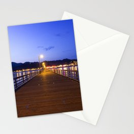 Aavila Beach pier at dusk Stationery Cards