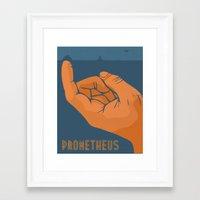 prometheus Framed Art Prints featuring Prometheus by beware1984