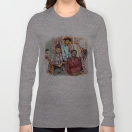 GOOD TIMES (pen sketch tribute to a classic sitcom) Long Sleeve T-shirt