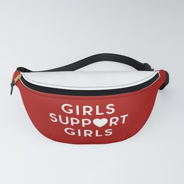 Girls Support Girls Feminist Quote Fanny Pack