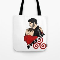 sterek Tote Bags featuring Sterek by adorible