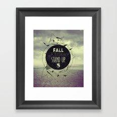 Fall 7 Stand 8 Framed Art Print