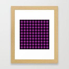 Plaid (Black & Purple Pattern) Framed Art Print