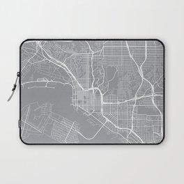 San Diego Map, California USA - Pewter Laptop Sleeve