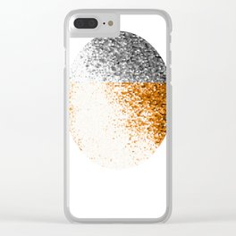 Half full moon Clear iPhone Case