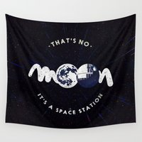 sith Wall Tapestries featuring That's no moon. It's a space station v2 by Earthlightened