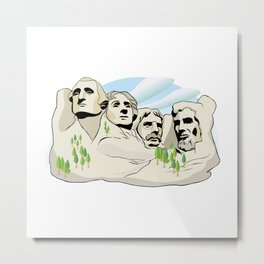 Mont Rushmore - United States Metal Print