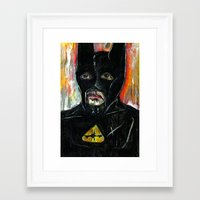 bat Framed Art Prints featuring Bat by C Z A V E L L E
