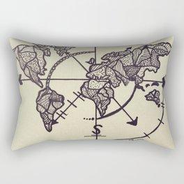 """Just Roam More"" Hand-Drawn by Dark Mountain Rectangular Pillow"