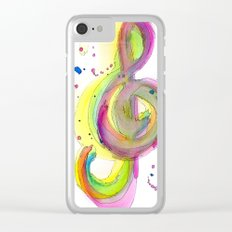 (t)Reble Clef Clear iPhone Case