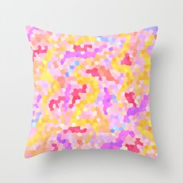 string theory mosaic Throw Pillow