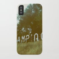 camping iPhone & iPod Cases featuring Camping by AmyLange