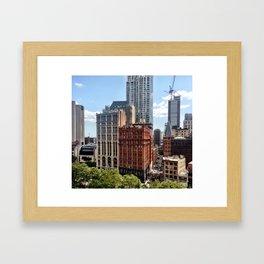 Civic Center Manhattan Framed Art Print