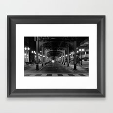 Chicago in the head lights Framed Art Print