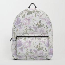 Mauve green lavender blush watercolor boho floral Backpack