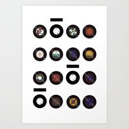 Domio Keyhole Vinyls Art Print
