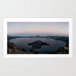 Moonrise over Crater Lake Art Print