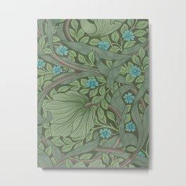 William Morris Art Nouveau Forget Me Not Floral Metal Print