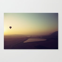 Balloon Sunrise Canvas Print