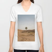 desert V-neck T-shirts featuring Desert  by Gerard Puigmal