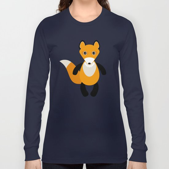 Fox and birds in the forest Long Sleeve T-shirt