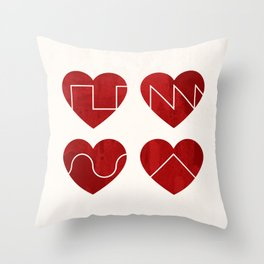 Love Synth Throw Pillow