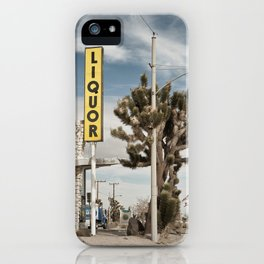 Liquor Store Yucca Valley iPhone Case
