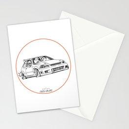 Crazy Car Art 0217 Stationery Cards