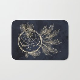 GOLDEN MOON IN DARK NIGHT Bath Mat