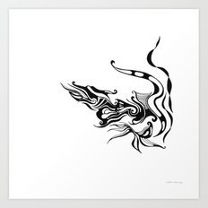 Dragon — Alternative t-shirt style (small image) Art Print