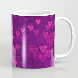 Abstract Pink Ultra Violet Love Heart Pattern | St Valentines day Coffee Mug