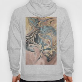 Liquid Gold and Rose Gold Marble Hoody