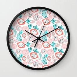 Pitahaya and Cactus Garden Wall Clock